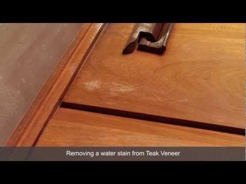 How To Remove A Water Stain From Teak Veneer Furniture   YouTube