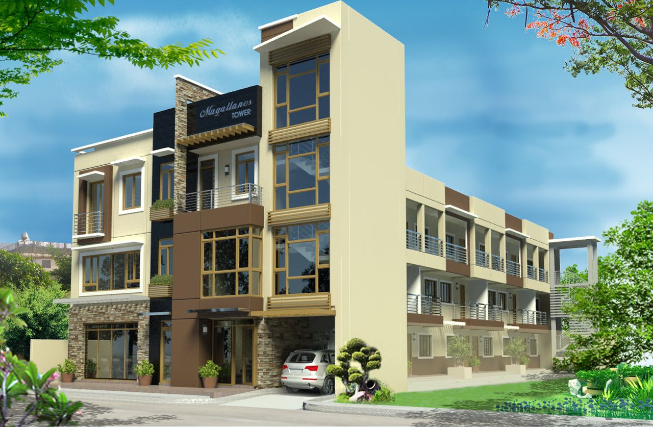 Beautiful and gorgeous modern apartments exterior design for Small apartment complex plans