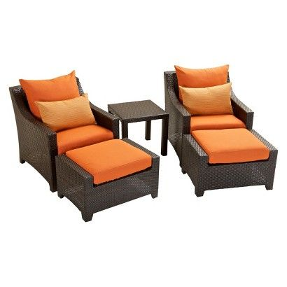 Deco 5-Piece Wicker Patio Chat Furniture Set