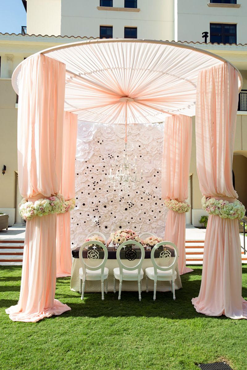 Chic Chanel Wedding Inspiration Wedding Stage Decorations