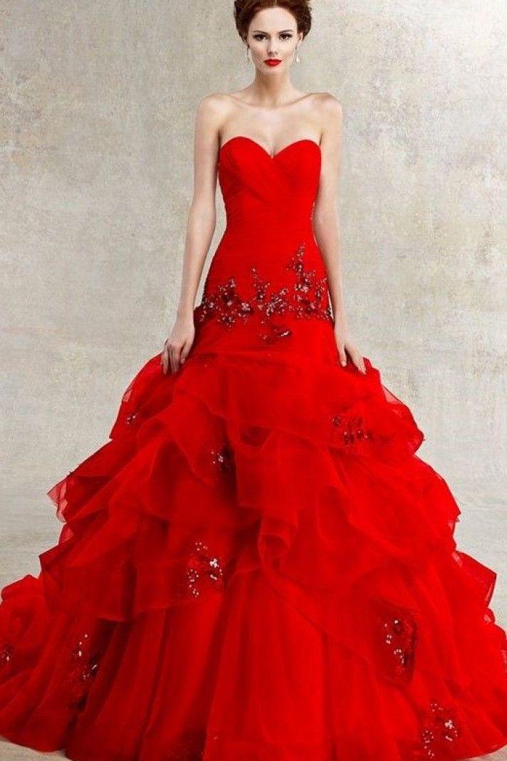 RED WEDDING DRESS CHEAP ONLINE