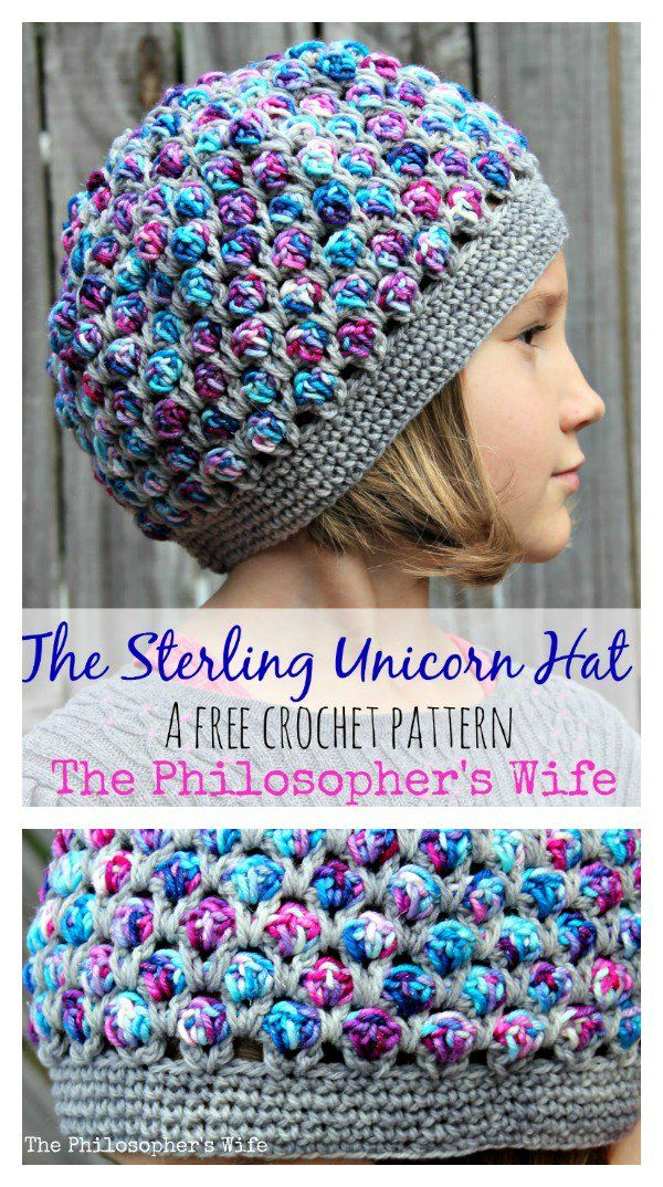 The Sterling Unicorn Hat Free Crochet Pattern | Gorros y Tejido