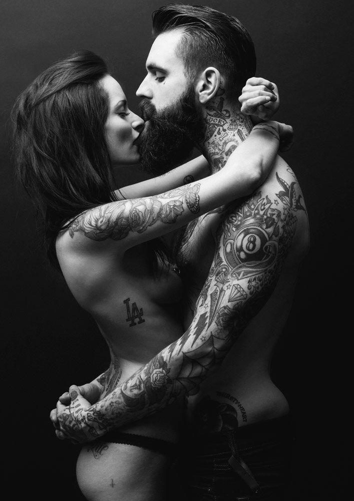 Sexy tattooed couple