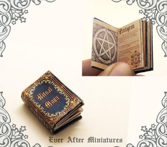 Ritual Magic Dollhouse Miniature Book \u2013 12th Scale OPENABLE
