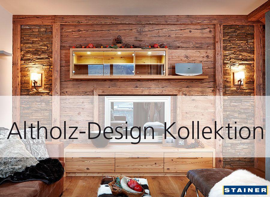 Altholz-Design Kollektion, in Echtholz - gehackt & gebürstet! Durch ein spezielles Verfahren wird auf neuem Holz der Natureffekt des alten, verwitterten und sonnengebleichten Holzes nachgestellt.