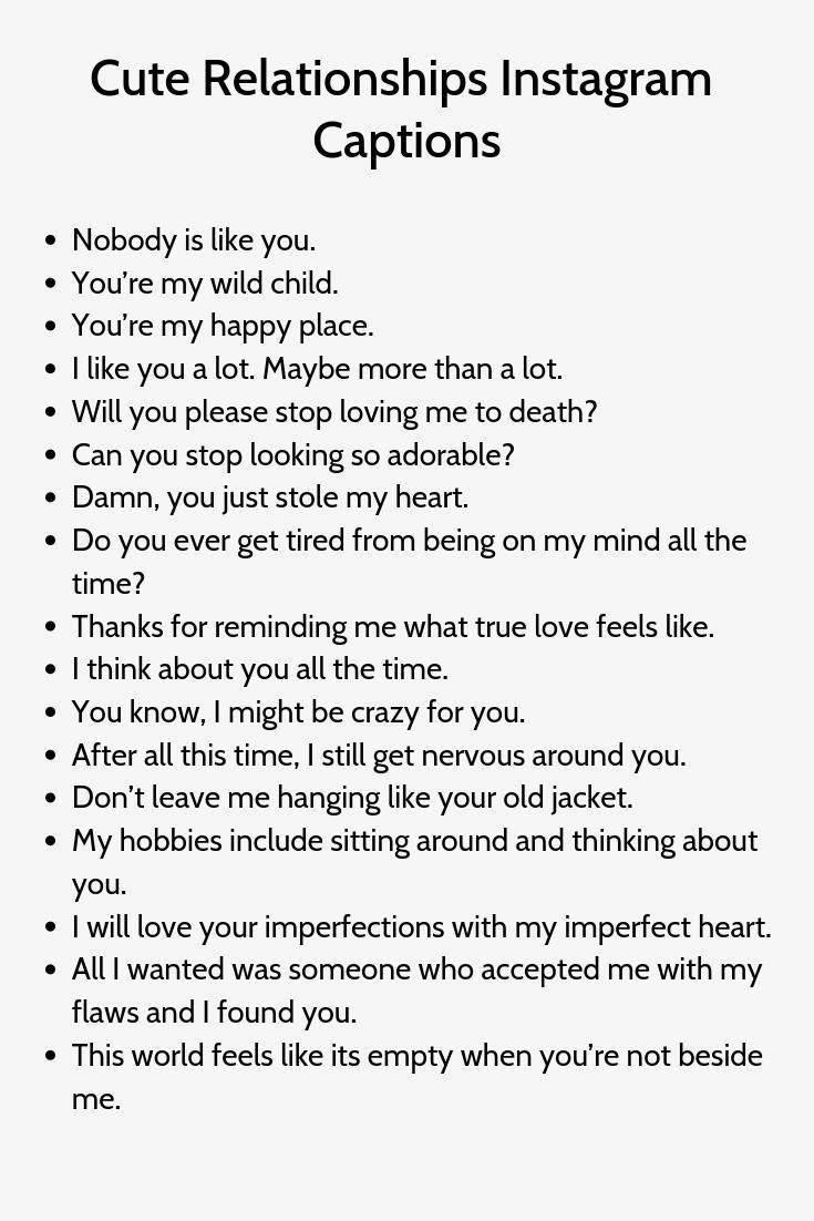 Cute Relationships Instagram Captions Citazioni Casuali Citazioni Instagram Citazioni
