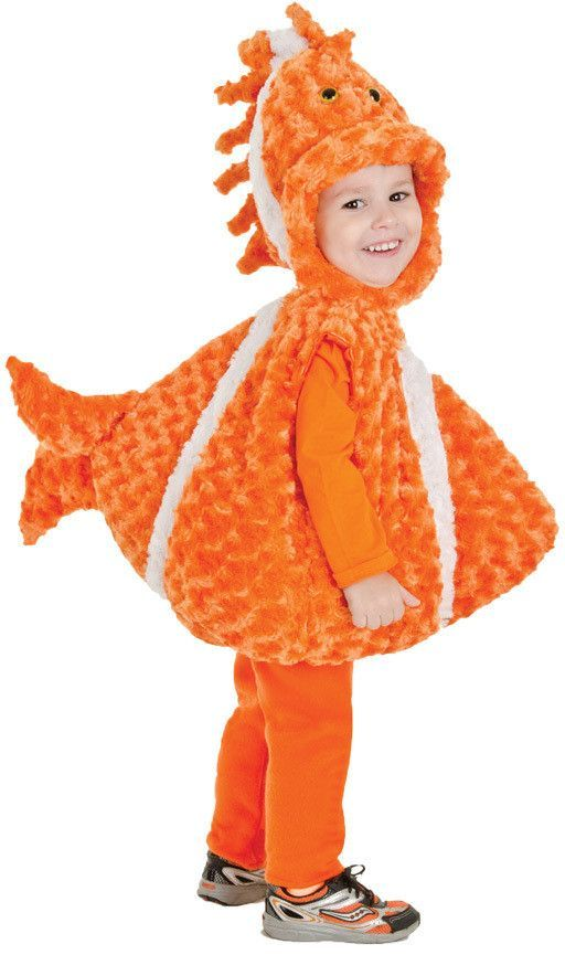 toddler costume: big mouth clown fish | 2t-4t