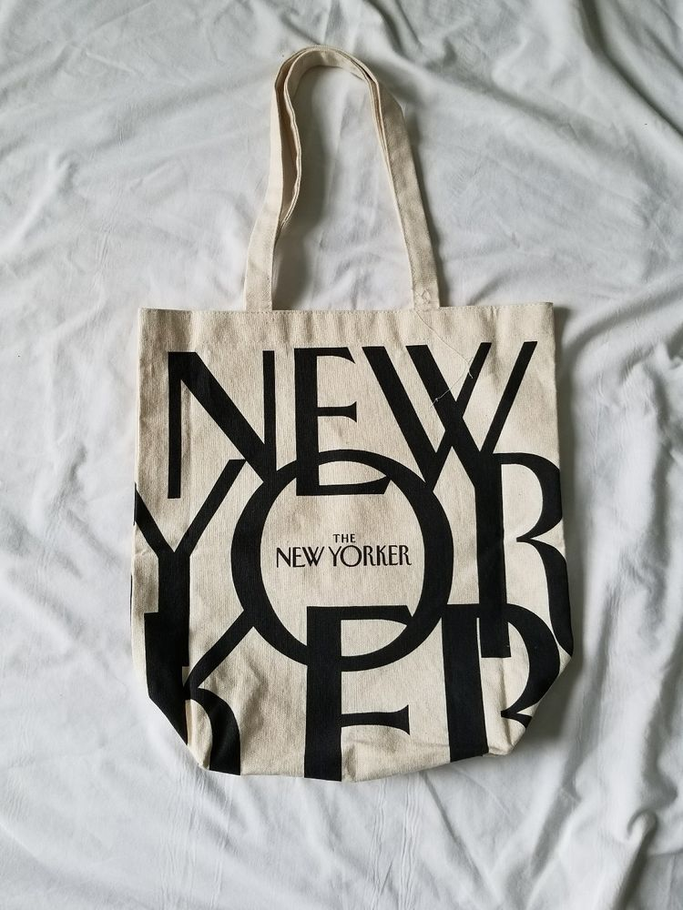 The New Yorker 100 Cotton Canvas Ping Tote Bag Book 15x15