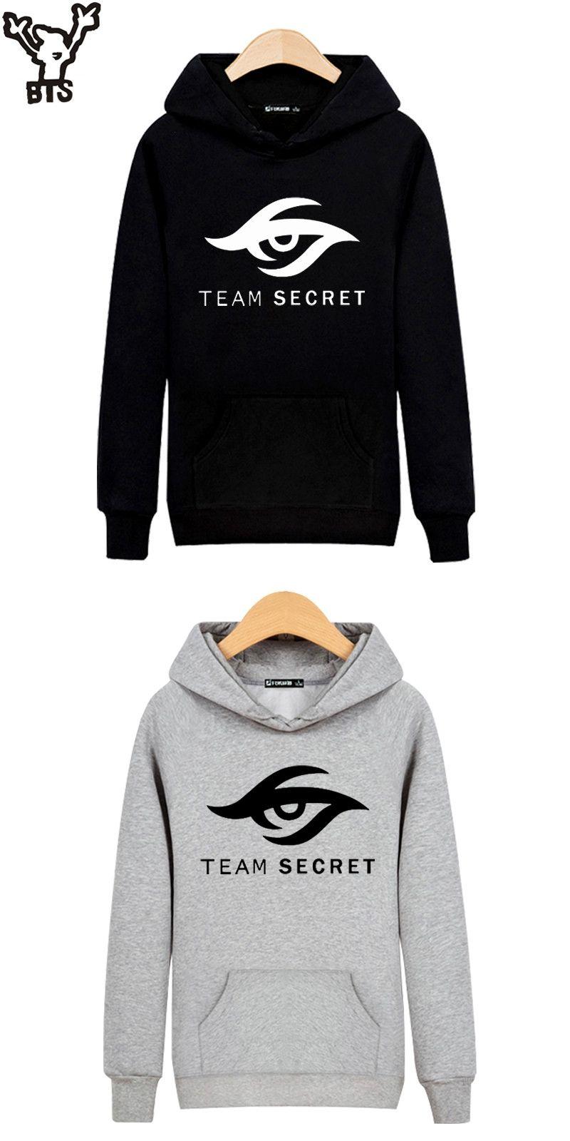 4de6dd661774 BTS Dota 2 TEAM SECRET Hooded Sweatshirt Men Hoodie Champion Team Fashion  Winter Hoodies Men Casual