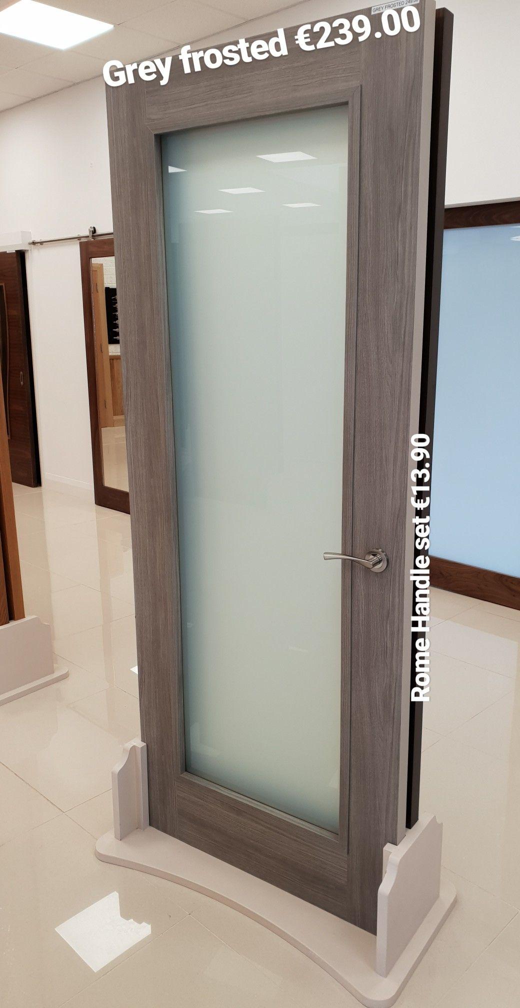 Natural Veneered Wooden Flush Door Design Mdf Living Room: Doras Daiken Frosted Grey Doors En 2019