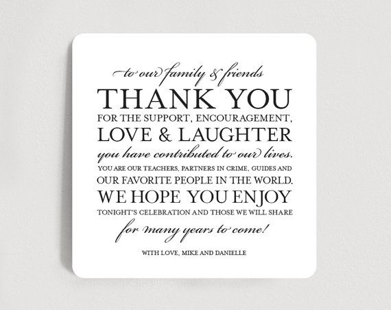 Wedding Thank You Card Place Setting Thank You Card Thank You