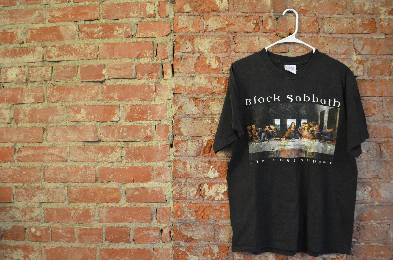 Black sabbath t shirt etsy - Vintage 1993 Black Sabbath The Last Supper Band Concert Unisex T Shirt