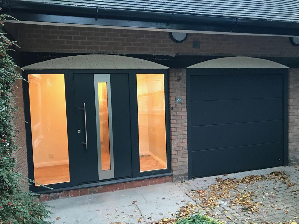 Matching Front Garage Doors From One Manufacturer Www Ryternagaragedoors Co Uk Matchingdesign Frontdoor Gara Garage Doors Doors Contemporary Front Doors