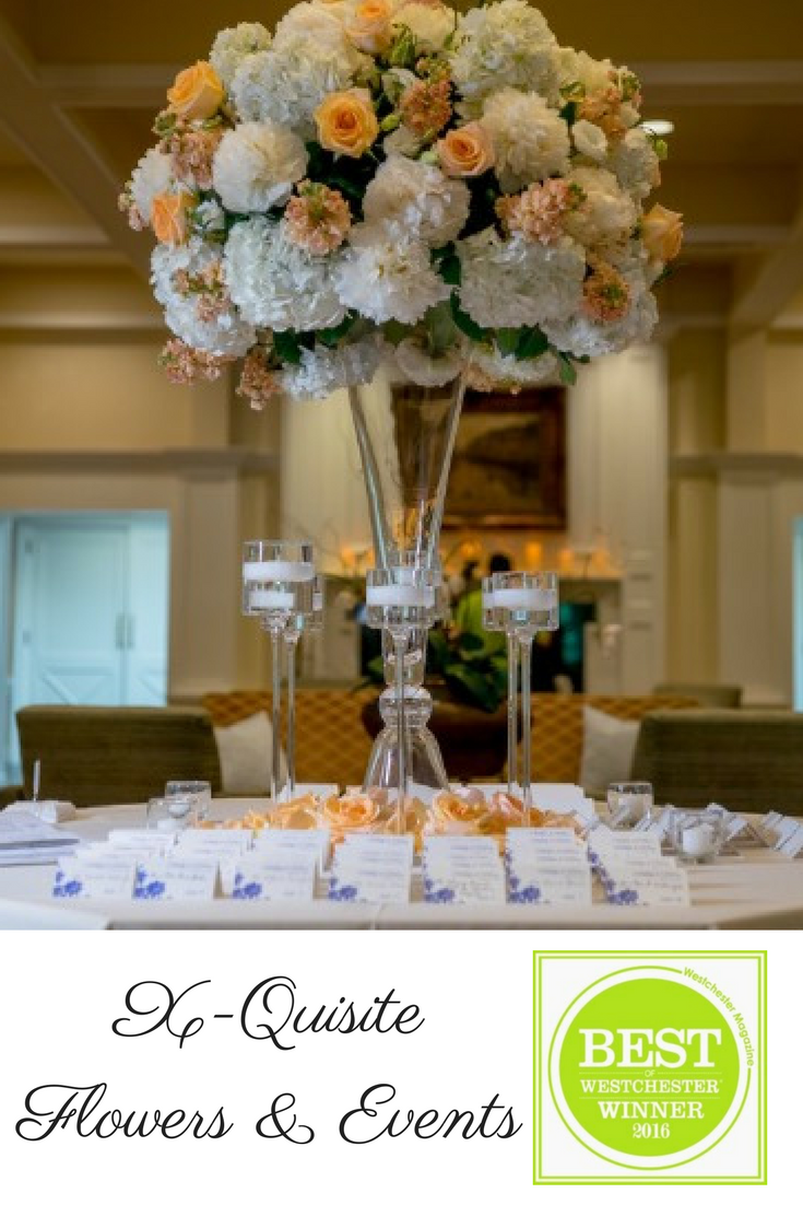 The Card Table At A Wedding Hampshire Country Club Was Adorned With Tall Centerpiece Of Peach And Cream Flowers Candles