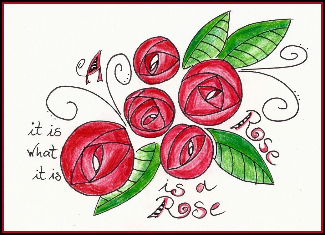 A Rose is a Rose is a Rose ... Doodle Art, Zentangle, Zendoodle von Uschi Brugger Idea by Tangle ...