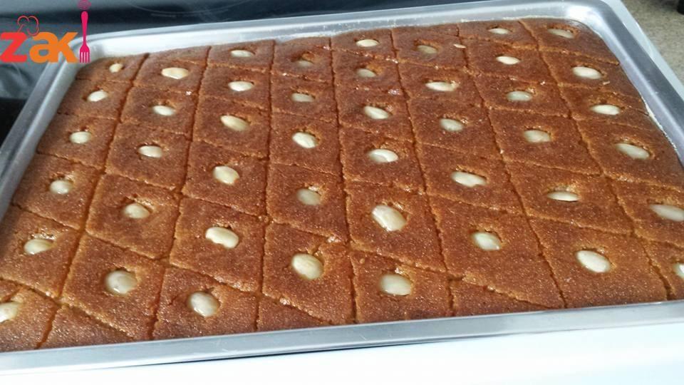 نمورة أو هريسة سادة وشعبية والطعم رائع جدا زاكي Armenian Food Desserts Lebanese Desserts Arabic Dessert