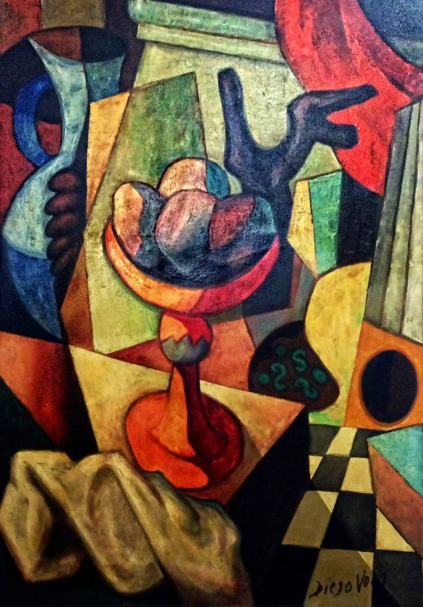 Diego Voci Nature Morta A La Guitarre A Cubistic Composition By Diego Sold At Schrankart In Wiesbaden Germany This Painting Had Diego Voci Painting Art