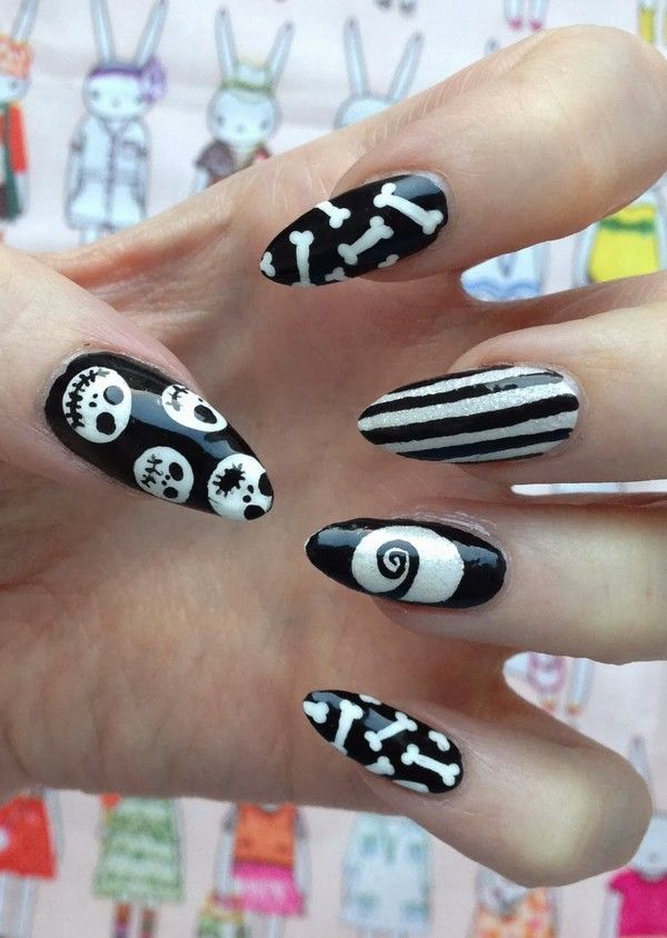 Nightmare Before Christmas Nails ... #NightmareBeforeChristmasNail ...