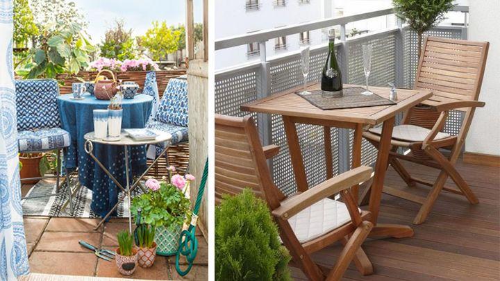 Decorar balcones pequenos3 muebles Muebles para balcones pequenos