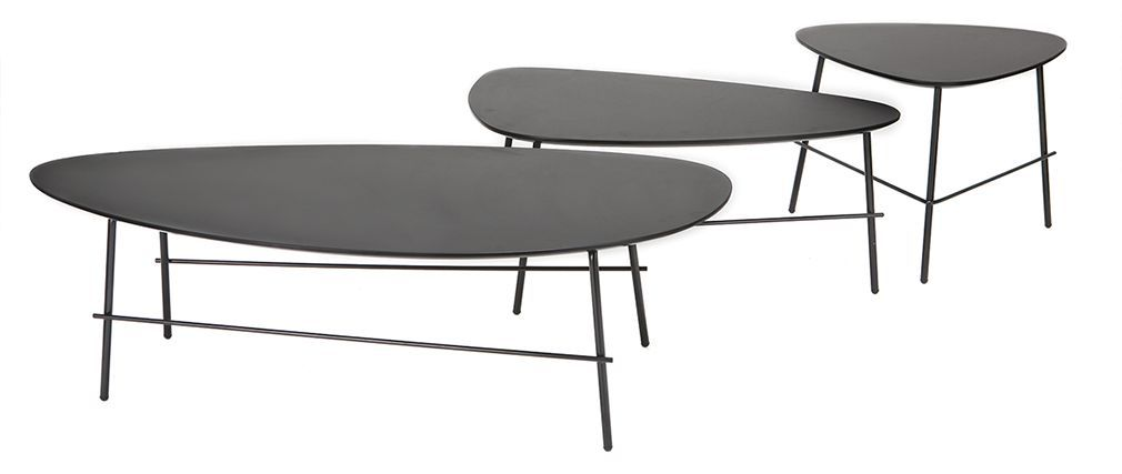 Table Basse Design Metal Noir 131 Cm Bloom Table Basse
