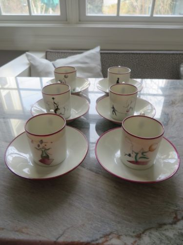 RARE-Gio-Ponti-for-Richard-Ginori-Pittoria-Circus-Demitasse-Cups-and ...