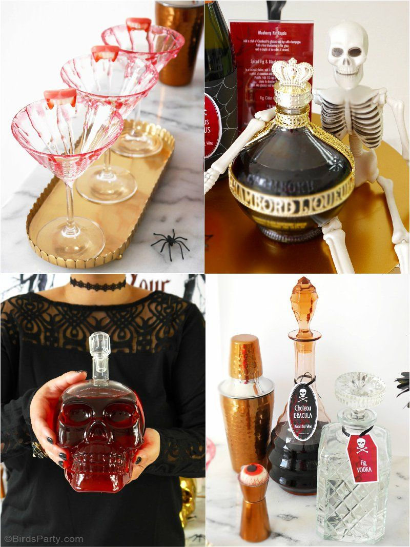 Halloween Party Cocktail Ideas Part - 32: Creepy Nu0027 Chic Halloween Cocktail Party Ideas
