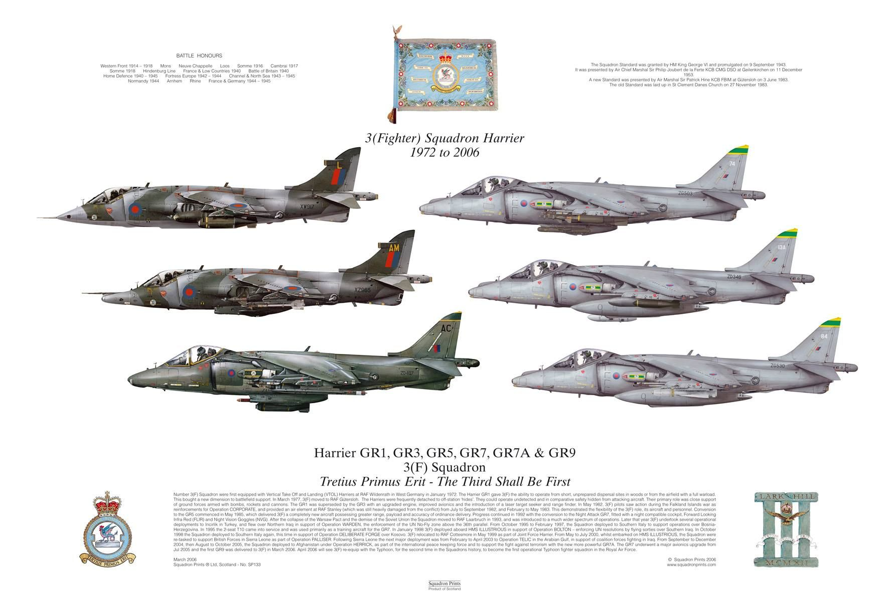 3 (Fighter) Squadron Harrier from 1972 to 2006 | Military