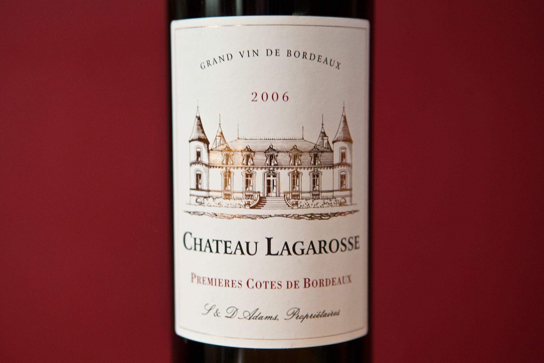 Chateau Lagarosse Cotes De Bordeaux Organic Wine Wine Bottle Wines