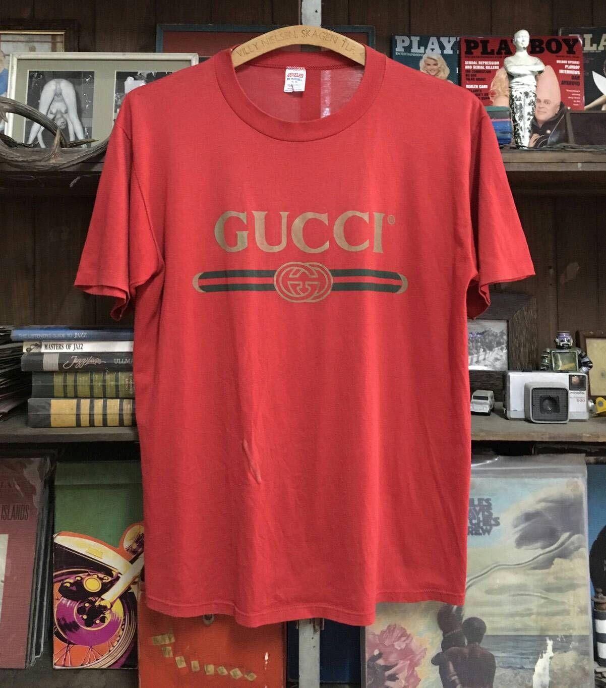 Vintage Bootleg Gucci T-Shirt- Pink tzYpO