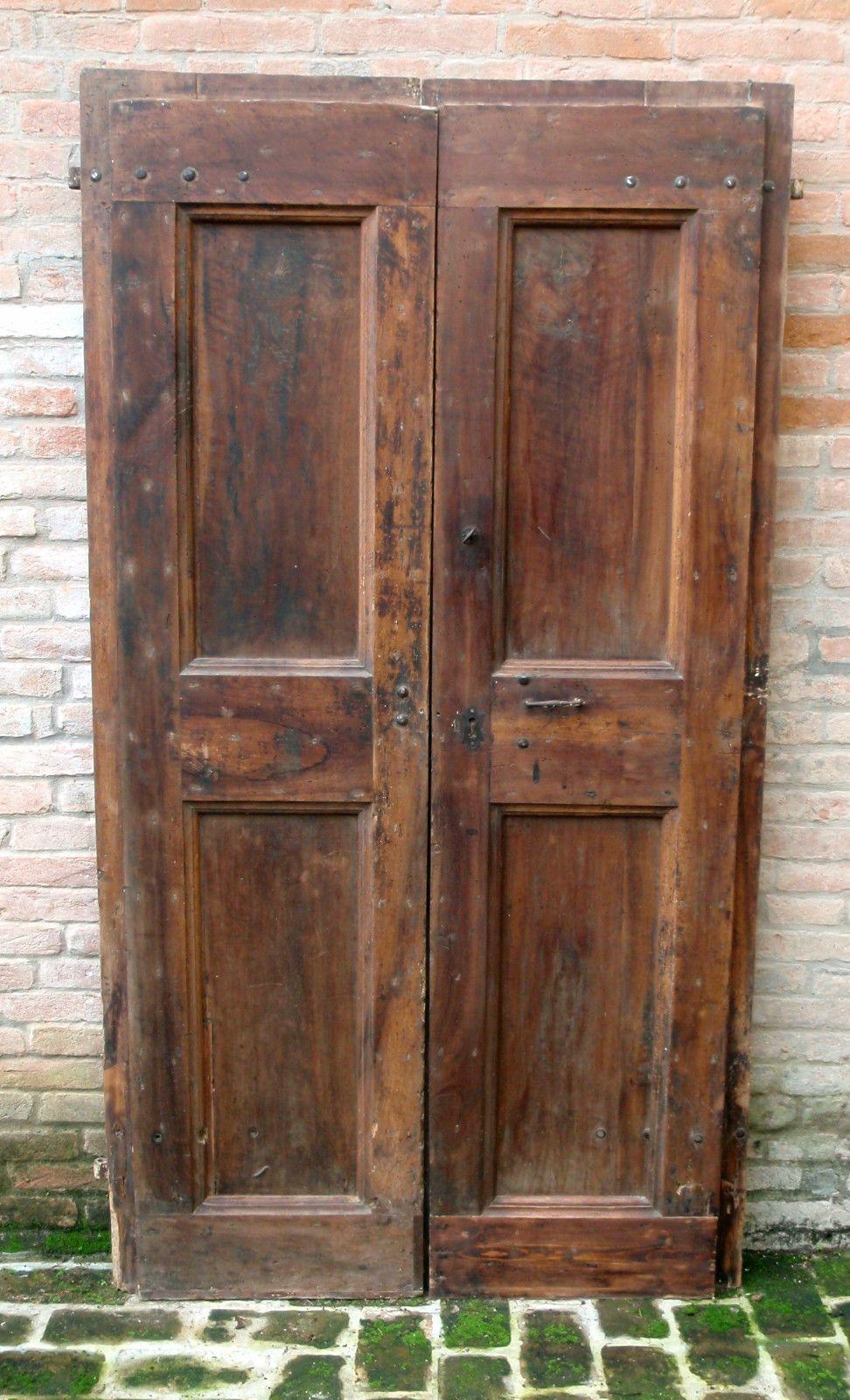 porte antiche a 2 ante in rovere del 39 700 cm210x110 una