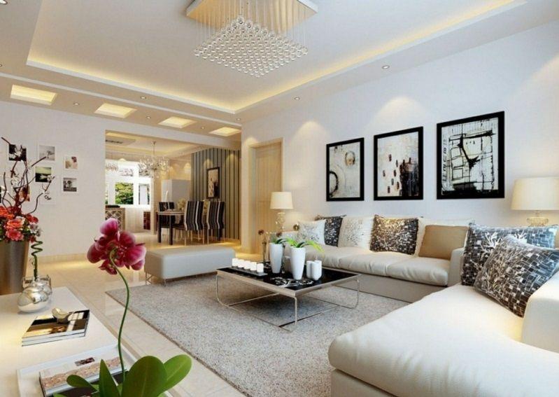 welche Farben passen zusammen Beige-Weiß-Farbkombination wohnen - wohnzimmer beige wei