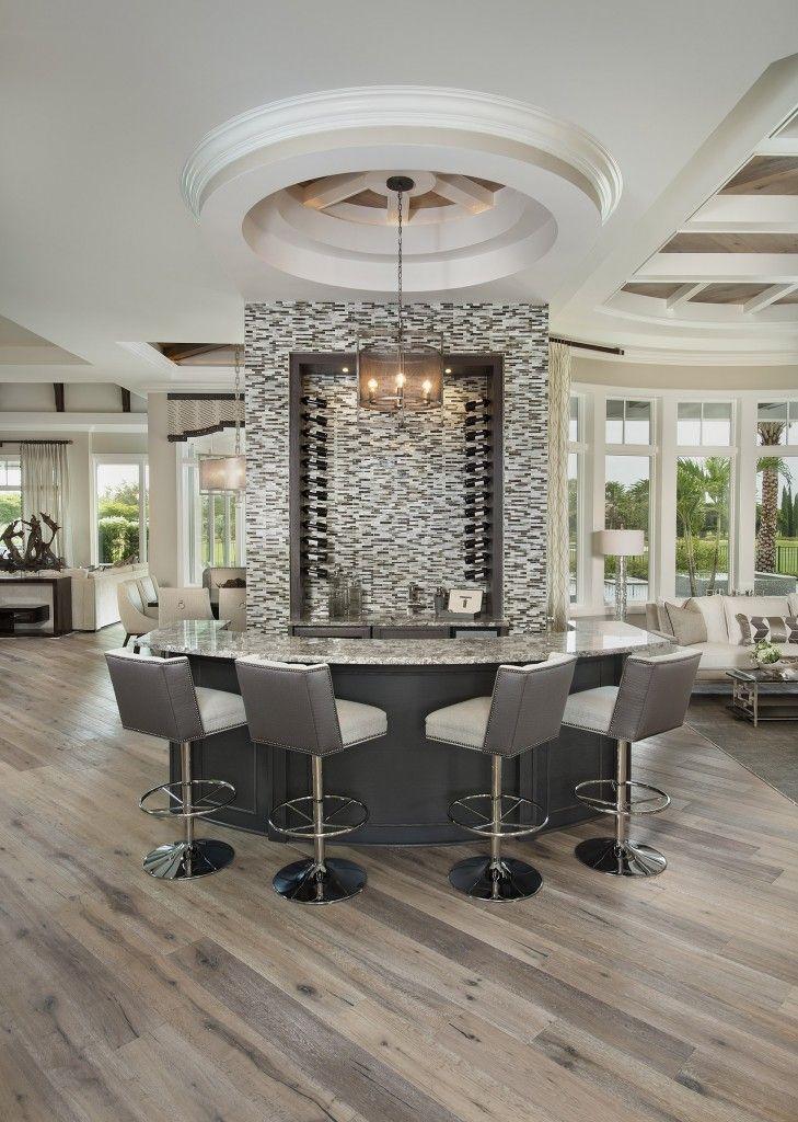 Radial Wet Bar Design By Naples Architect Weber Design Group