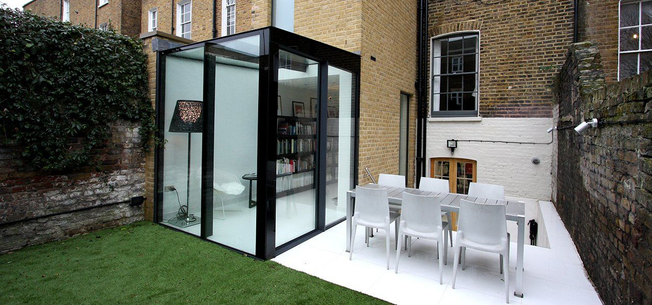 Small Glass Box Extension To Town House In London Using
