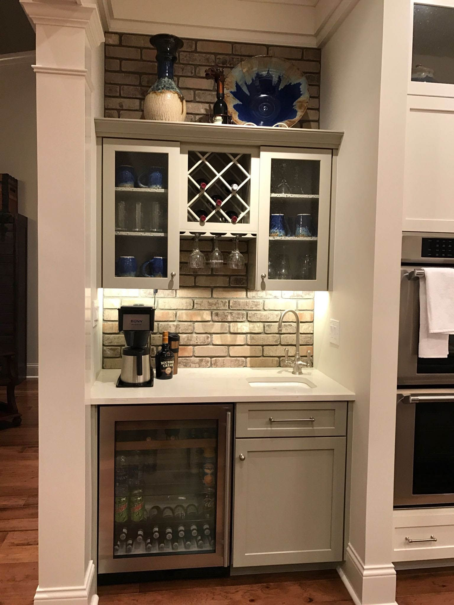 Eye Opening Coffee Bars You Ll Want For Your Own Kitchen Homes Tre Coffee Bar Home Home Bar Designs Basement Bar Design
