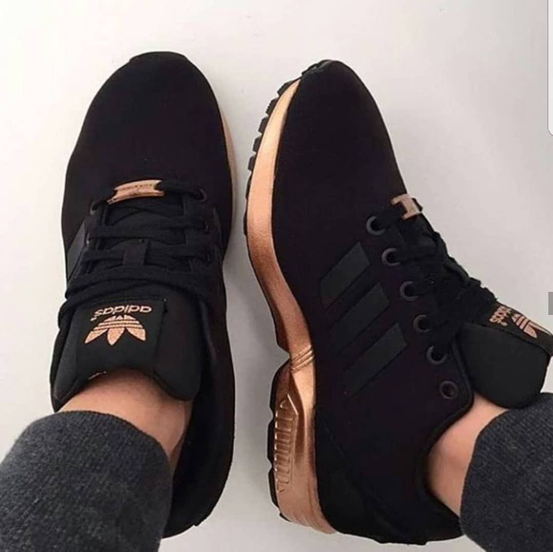 adidas zx flux black pink white rose