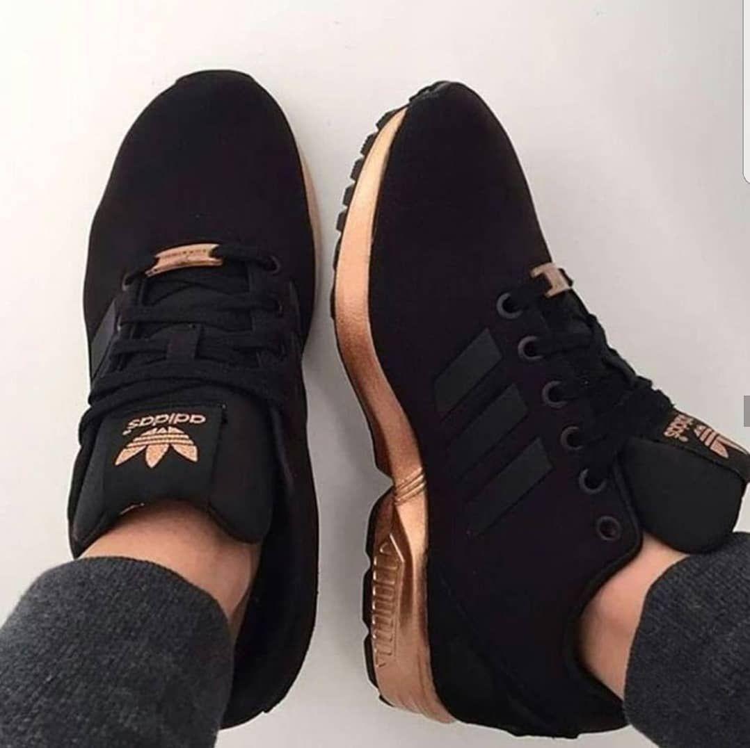 adidas zx flux zwart rose goud