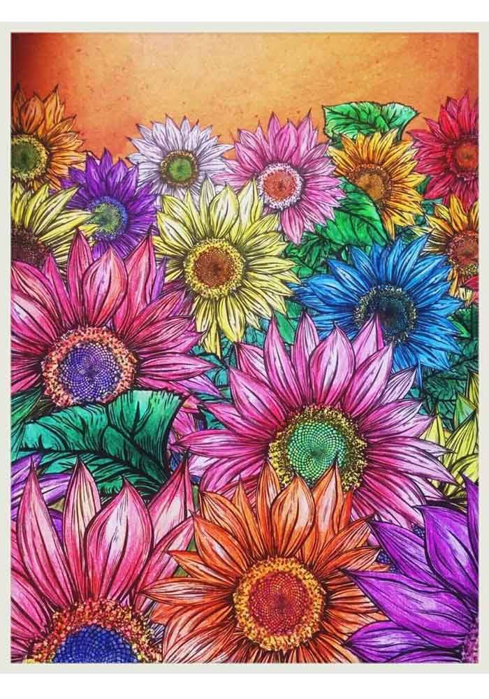 Mind Yoga Colour Therapy Colouring Book Secret Garden Books Adult Coloring Kill Time Antistress Painting