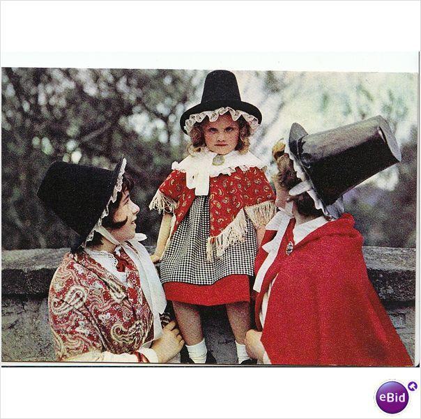Three Girls in Welsh National Costume [EE932] on eBid United Kingdom