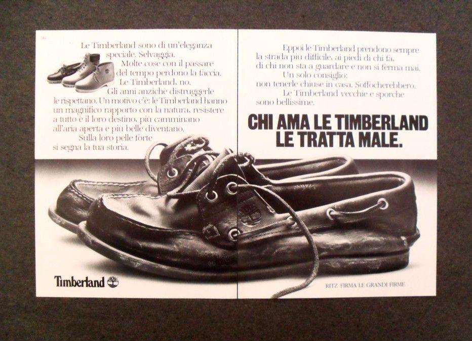 GCG] M963 Advertising Pubblicità 1985 TIMBERLAND,CHI LE