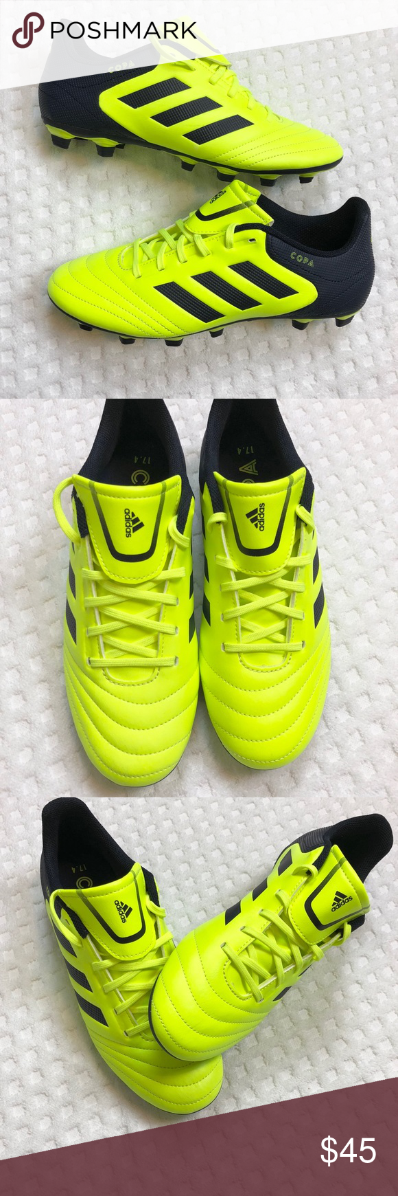 1d639575b Adidas Men s COPA 17.4 FXG Neon Soccer Cleats BRAND NEW (no tags or box)
