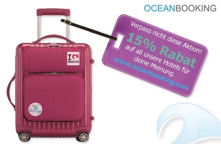 Erhalte 15% #Rabatt auf unsere #Hotel auf #Teneriffa! Sag uns einfach deine Meinung über unsere Seite! Einfacher #Geld #sparen geht schon fast nicht mehr :)  http://blog.oceanbooking.com/de/promotion-15-discount/#more-1348