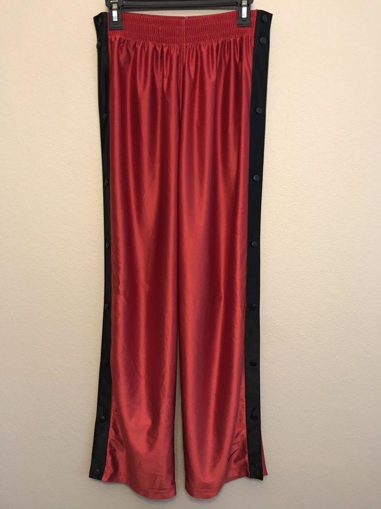 af39dc7bef Team Nike Sports Men's Medium Basketball Pants Full Snaps Red Vintage  Breakaway #NikeSports #Pants