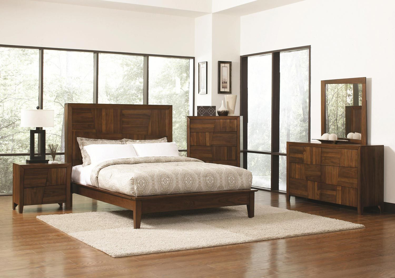 Coaster Joyce Bedroom Collection Walnut Bedroom sets