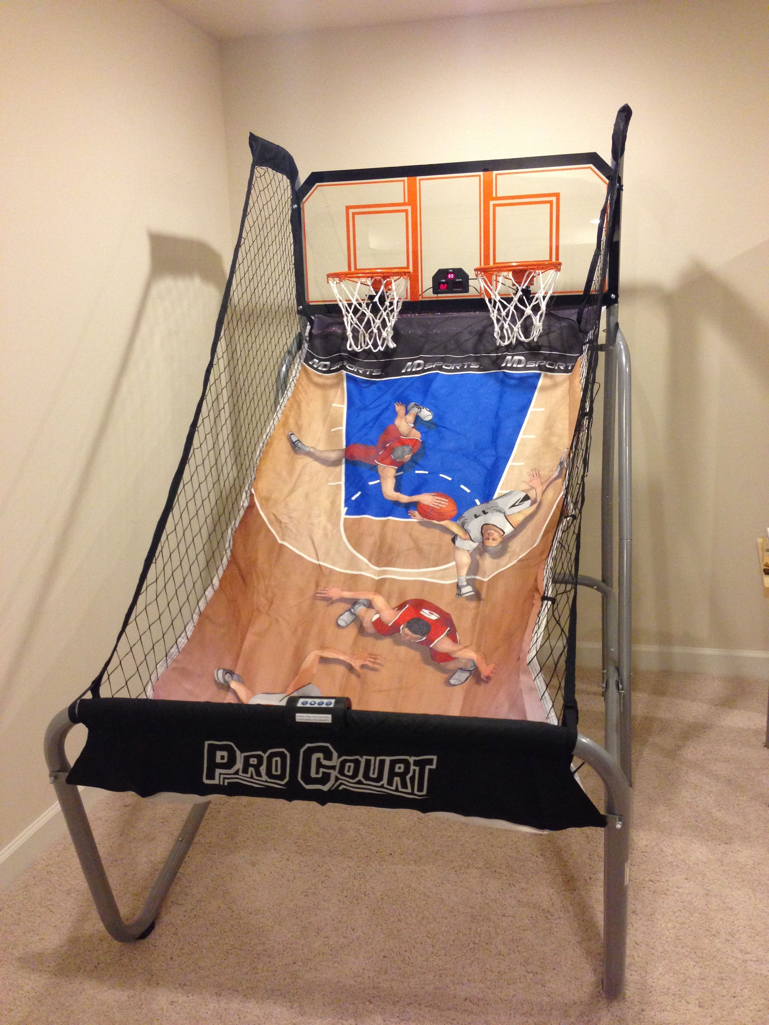 Pro Court Basketball Game Scoring System Air Hockey Table Games