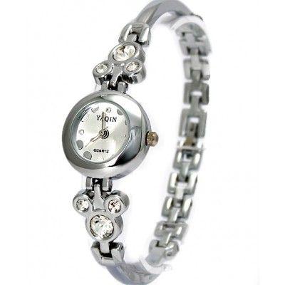 FW686A New Shiny Silver Band Round Matt Silver Dial Ladies Women Bracelet Watch