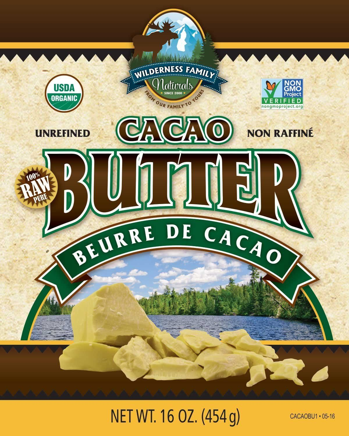 Cacao Butter - Wilderness Family Naturals Certified Organic - 1 lb. Bag ^^ Awesome product available right here.  : Fresh Groceries