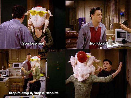 Frightened Joey Friends Thanksgiving Episodes Friends Moments Friends Thanksgiving