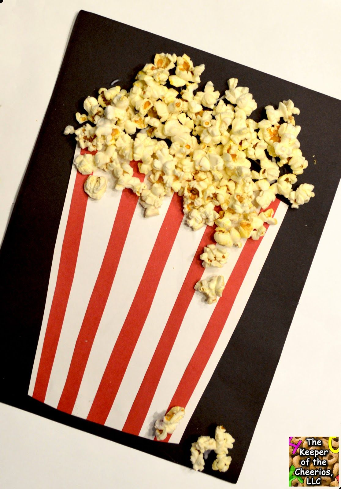 Popcorn Craft The Keeper Of The Cheerios Popcorn Crafts Preschool Food Crafts Carnival Crafts