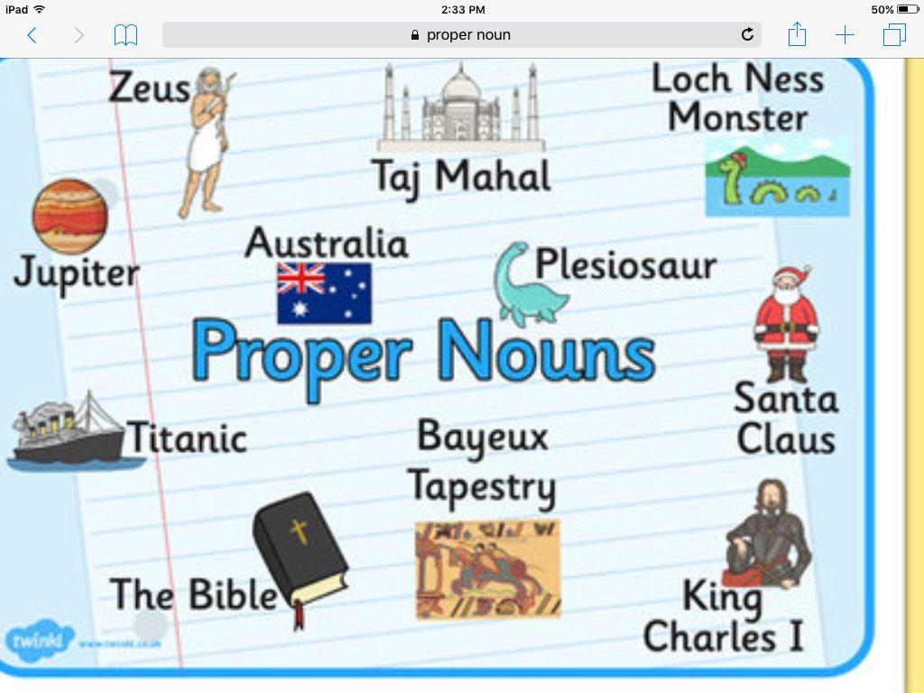 Image result for proper noun | proper noun example | Pinterest ...
