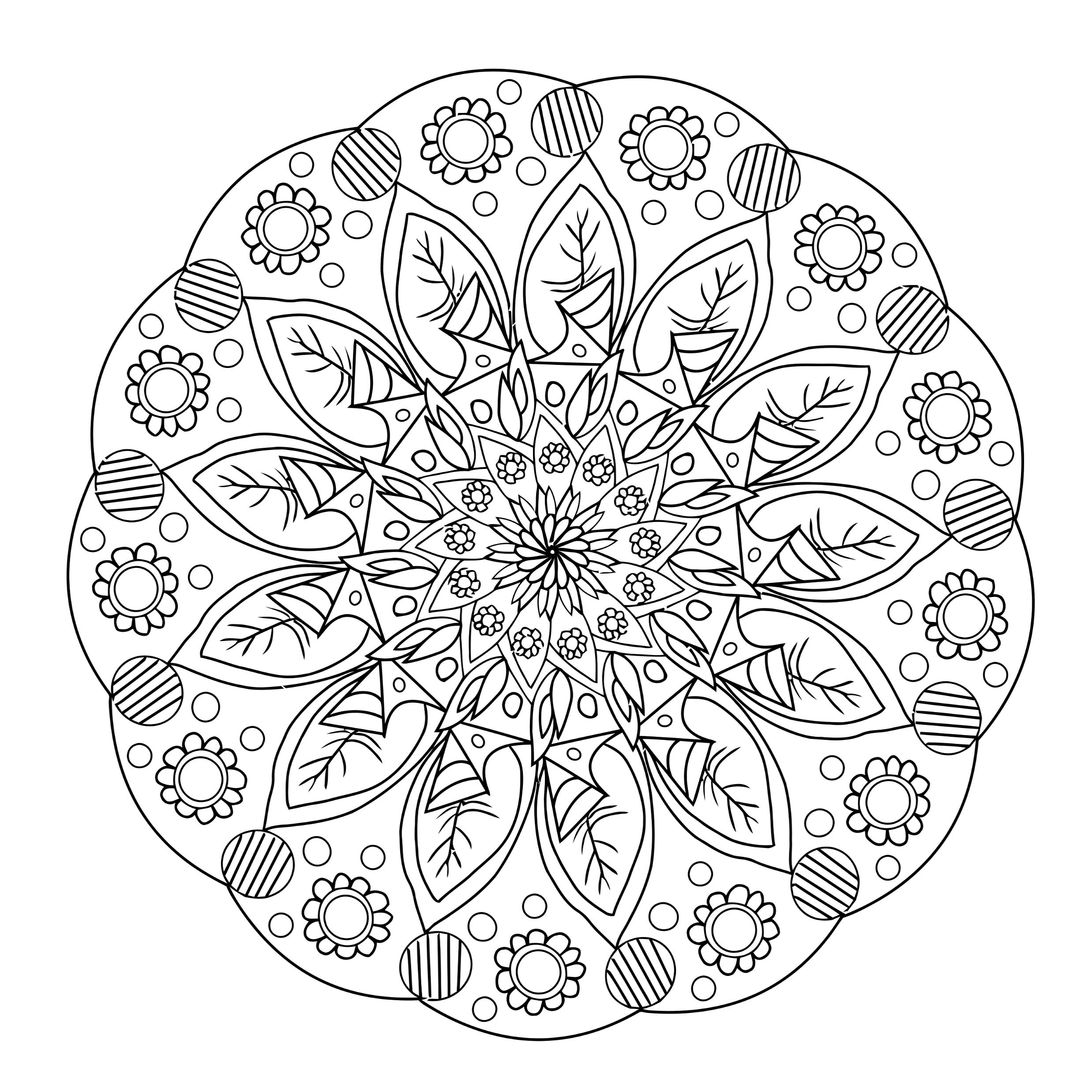 Kostenlose Mandalavorlagen zum herunterladen. #Mandala #Vorlage ...